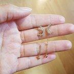 Sami Fine Jewelry Star and Moon Dangles