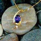 Arizona Amethyst™ Gold Jewelry Amethyst Oval Bypass Pendant