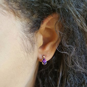Essential Double Prong Amethyst Studs