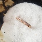 Sami Fine Jewelry Rose Gold Diamond Stackable Ring