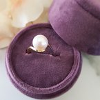 Sami Fine Jewelry Two-Tone Freshwater Cultured Pearl Ring