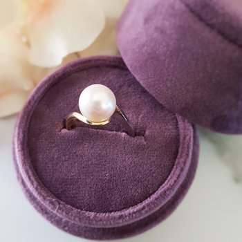 Two-Tone Freshwater Cultured Pearl Ring