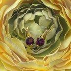 Arizona Amethyst™ Gold Jewelry Criss Cross Studs