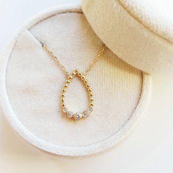 Pear Shaped Bezel Necklace