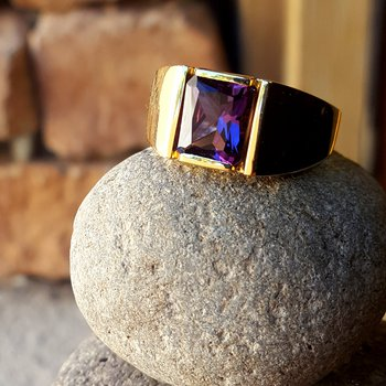 Radiant Amethyst Ring