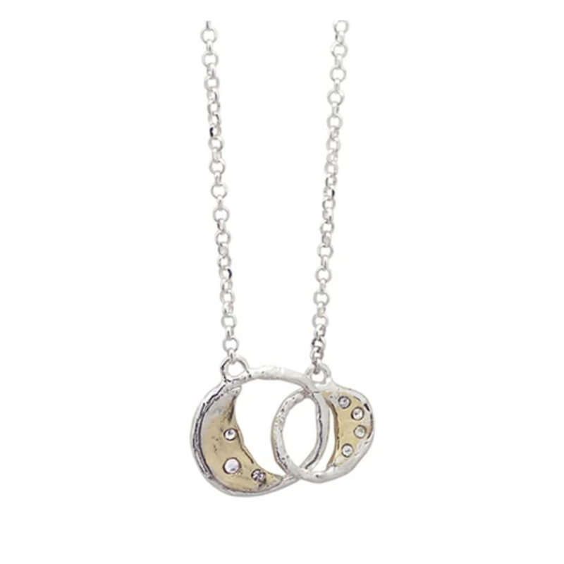 Waxing Poetic Otherworld Necklace - Joined Moons