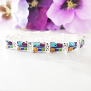 Geometric Multicolor Bracelet