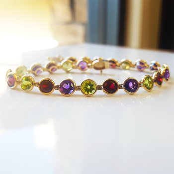 Arizona Gemstones Tennis Bracelet
