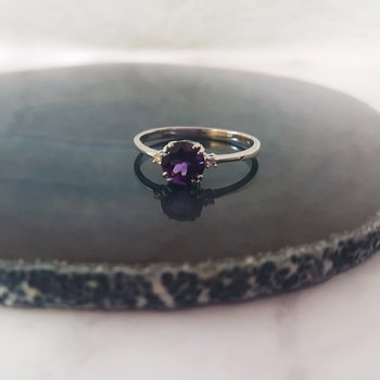 Round Double Prong Ring
