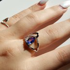 Sami Fine Jewelry Tanzanite Swoop Ring