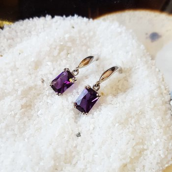 Dangle Amethyst Earrings