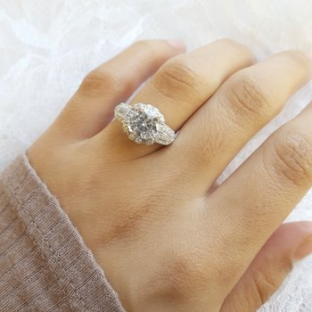 Halo Style Engagement Ring