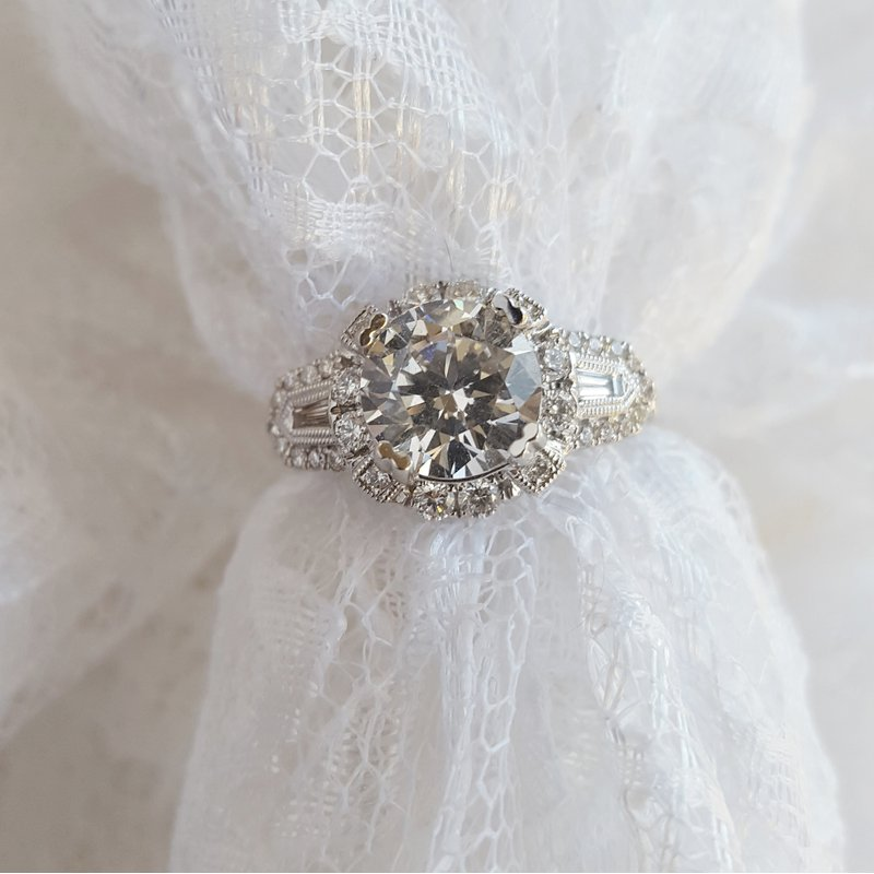 Sami Fine Jewelry Halo Style Engagement Ring