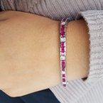 Gems One Ruby and Diamond Line Bracelet