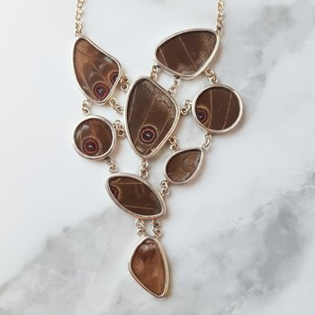 Multishape Butterfly necklace