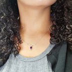 Arizona Amethyst™ Gold Jewelry Wings Pendant