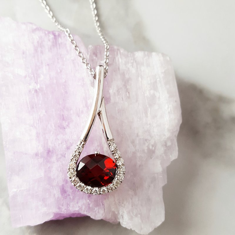 Sami Fine Jewelry Dramatic Garnet Pendant