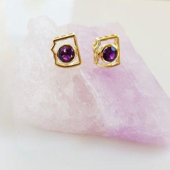 Mini AZ State Stud Earrings