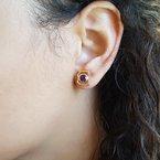 Arizona Amethyst™ Gold Jewelry Mini AZ State Stud Earrings