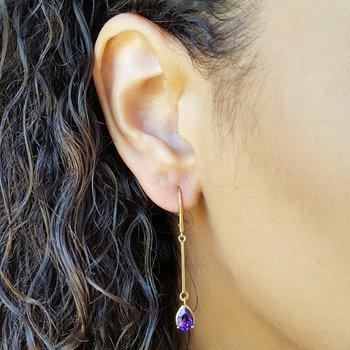 Amethyst Dangle Drop Earrings