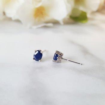 Oval Sapphire Studs