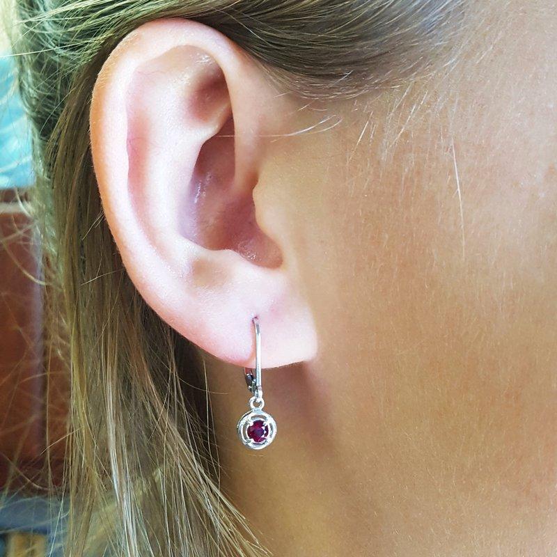 Arizona Anthill Garnet Silver Jewelry Garnet Dangle Earrings