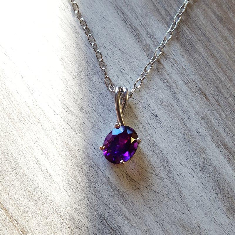 Arizona Amethyst™ Gold Jewelry Arizona Amethyst Minimalist Pendant