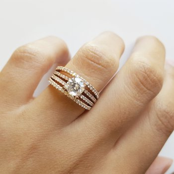 Open Row Engagement Ring