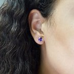 Arizona Amethyst™ Silver Jewelry Amethyst Double Prong Studs