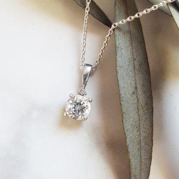 April White Sapphire Pendant