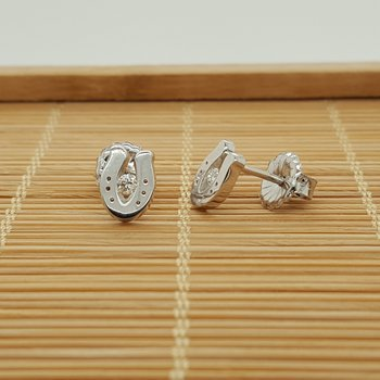 14K Diamond Sliding Shoe Earrings