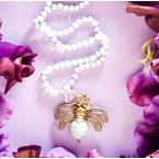 Waxing Poetic Bee Brave Charm