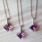 Arizona Amethyst™ Silver Jewelry Arizona Amethyst Princess Cut Pendant