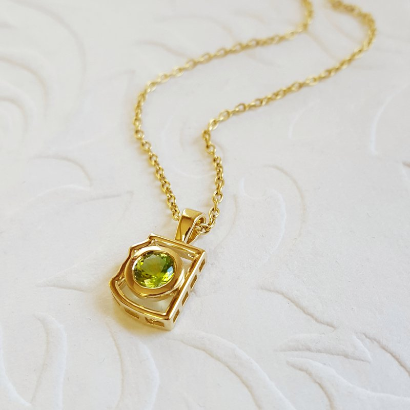Arizona Peridot Gold Jewelry Peridot Mini AZ State