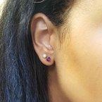 Arizona Amethyst™ Gold Jewelry Essential 3/4CT Trillion Studs