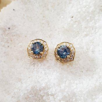 Montana Sapphire Studs