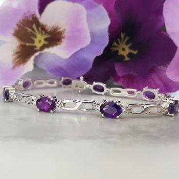 Infinity Link Amethyst Bracelet