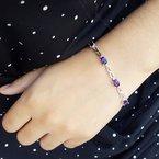 Arizona Amethyst™ Gold Jewelry Infinity Link Amethyst Bracelet