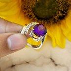 Arizona Amethyst™ Gold Jewelry Bold Architectural Ring