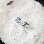 Sami Fine Jewelry Round Aquamarine Studs