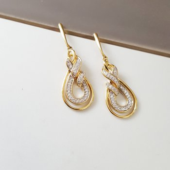 Infinity Swoop Dangle Earrings