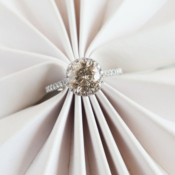 Champagne Engagement Ring