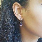 Arizona Amethyst™ Gold Jewelry Pear Cut Arizona Amethyst Dangles