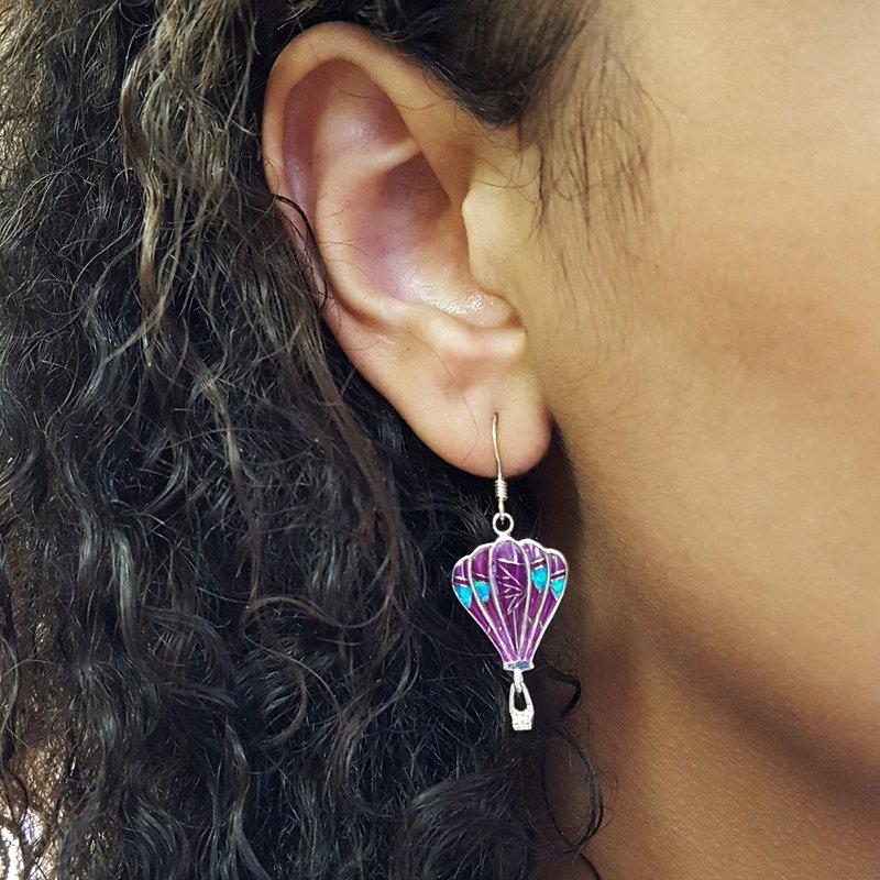 Arizona Turquoise and Inlaid Jewelry Sugilite Hot Air Balloons