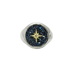 Waxing Poetic Inner Compass Signet Ring