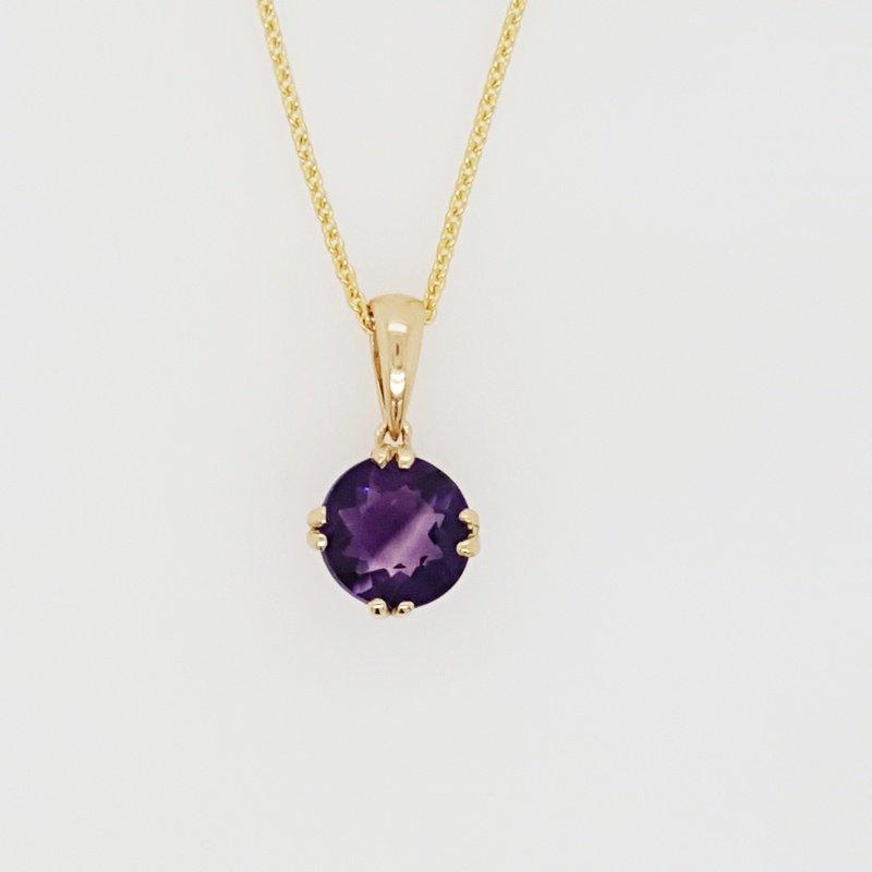 Arizona Amethyst™ Gold Jewelry Round Arizona Amethyst Pendant