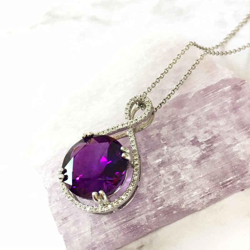 Arizona Amethyst™ Gold Jewelry Double Prong Necklace