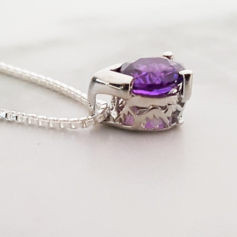 Arizona Amethyst™ Silver Jewelry Peak Pendant