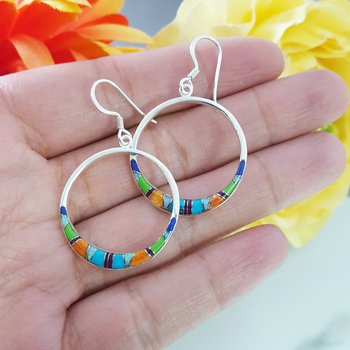 Open Circle Dangle Earrings