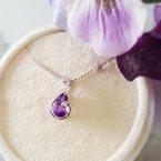 Arizona Amethyst™ Silver Jewelry Teardrop Swirl Amethyst Pendant
